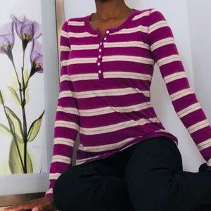 MOSSIMO Purple Stripe Shirt